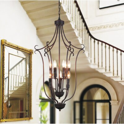 Maddy 9-Light Candle-Style Chandelier Size: 110 H x 19 W x 19 D