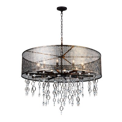 Pollett 10-Light Drum Chandelier