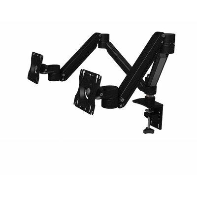 Allure Lite Height Adjustable 2 Screen Desk Mount Finish: Silver/Black