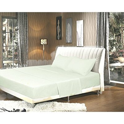 Galan Bed Sheet Set Size: King, Color: White