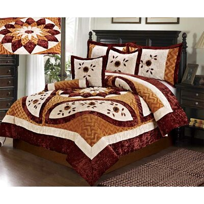 Autumns Last Blossom Comforter Set Size: California King