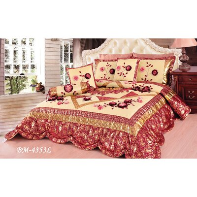 Rose Garden 6 Piece Comforter Set Size: King