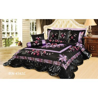 Midnight Lily Pond Comforter Set Size: Full