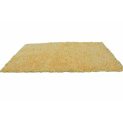 Chenille Yellow Area Rug Rug Size: 6 x 9