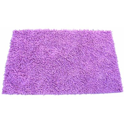 Chenille Hot Pink Area Rug Rug Size: Rectangle 6 x 9