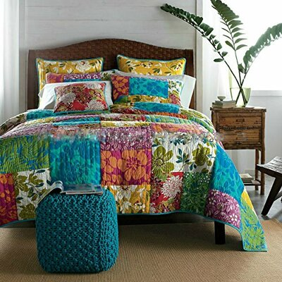 Flower Power Party 3 Piece Quilt Set Size: California King