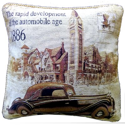 A Drive into Town Pillow Cover