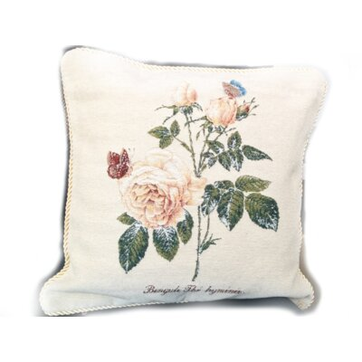 Golden Summer Rose Cushion Cover