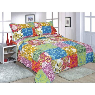 3 Piece Quilt Set Size: California King