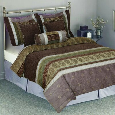 South Asian Summer 6 Piece Comforter Set Size: Queen