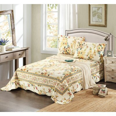 3 Piece Reversible Bedspread Set Size: King