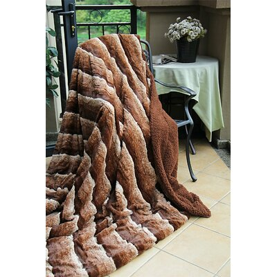 Faux Fur Sherpa Throw Blanket Size: 63 x 87