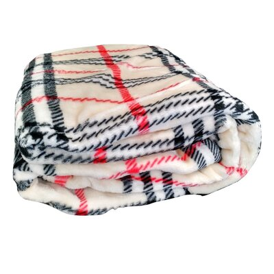 Ritz Flannel Polyester Throw Blanket Size: 90 L x 66 W