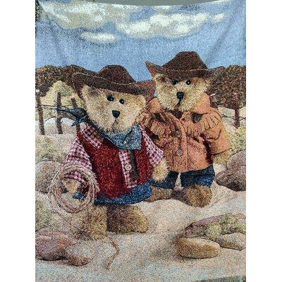Meanwhile in the West Tapestry Throw Blanket