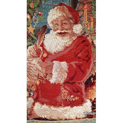 Old St. Nick Tapestry Throw