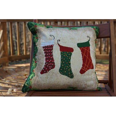 Hang My Stockings by the Fireplace Cushion Cover