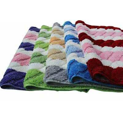 Summer Boardwalk Bath Rug Size: 31 x 48, Color: Pink/Purple