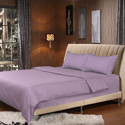 Duvet Cover Set Size: California King, Color: Lavender
