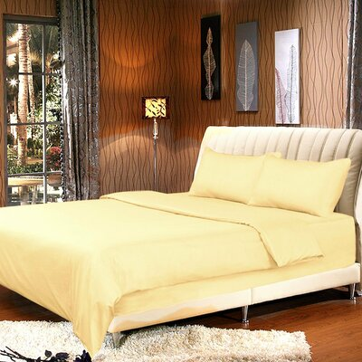 Duvet Cover Set Size: King, Color: Sunny Yellow