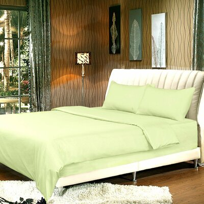 Duvet Cover Set Size: Full, Color: Light Green