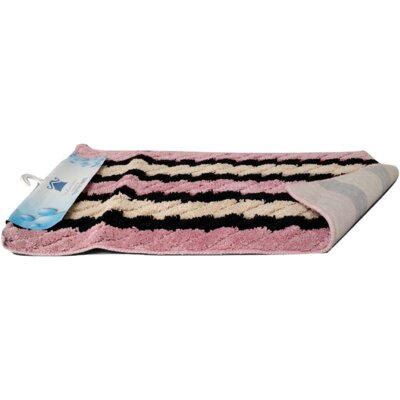 Multi Pink Striped Doormat