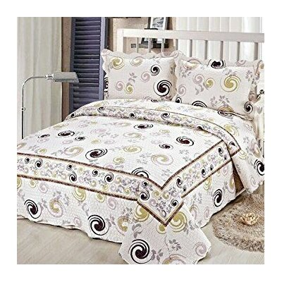 3 Piece Reversible Bedspread Set Size: Queen