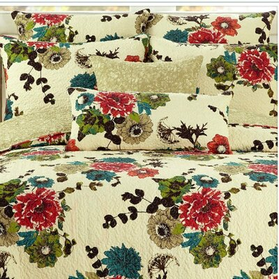 Spring Country Garden Reversible Bedspread Set Size: Full