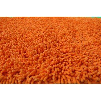 Chenille Orange Indoor/Outdoor Area Rug Rug Size: Runner 27 x 8