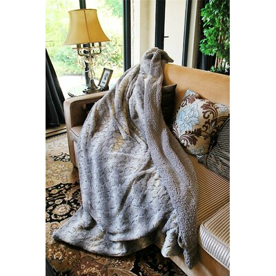 Snow Giraffe Faux Fur Throw Blanket Size: 90 x 90