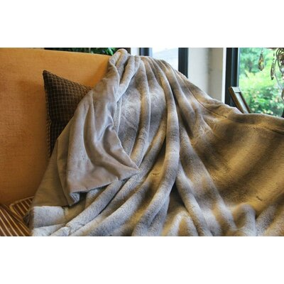 Rabbit Microfleece Throw Blanket Size: 63 x 87