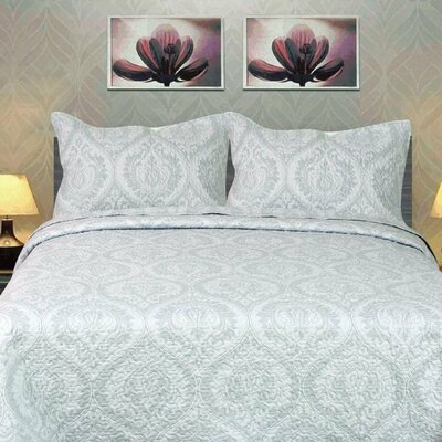Austere 3 Piece King Bedspread Set
