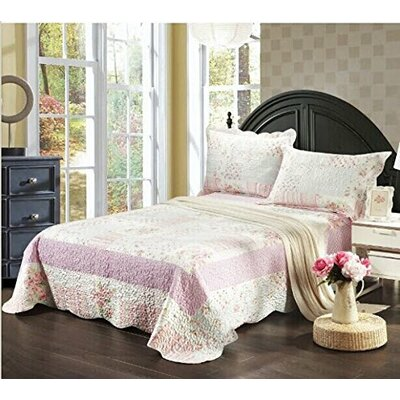 Royal Party Picnic 3 Piece Reversible Bedspread Size: Queen