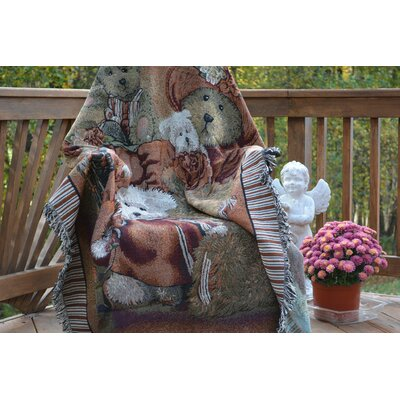 Teddys Tapestry Throw Blanket