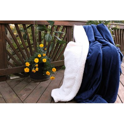 Warm Super Soft Sherpa Winter Night Micro Fleece Throw Blanket Size: 60 L x 50 W