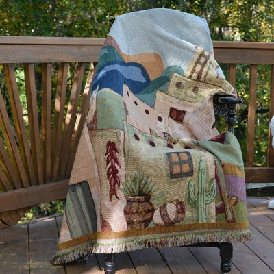 Americana South Village Tapestry Throw Blanket