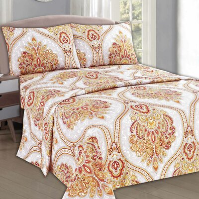 Sunshine Festival 1000 Thread Count Sheet Set Size: Full