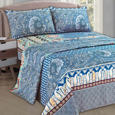 Paisley Monarch 1000 Thread Count Sheet Set Size: Queen