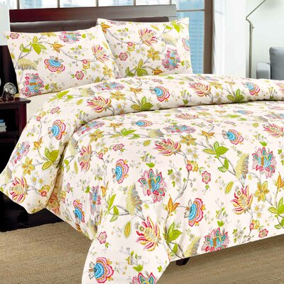 Quiet Morning Garden Duvet Cover Set Size: Queen