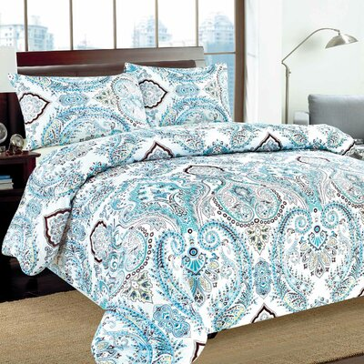 Frozen Forest Duvet Cover Set Size: Queen