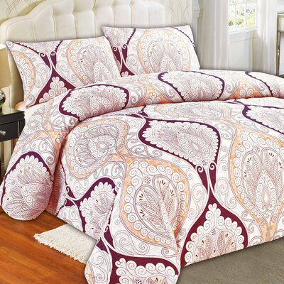Mandala Duvet Cover Set Size: Full