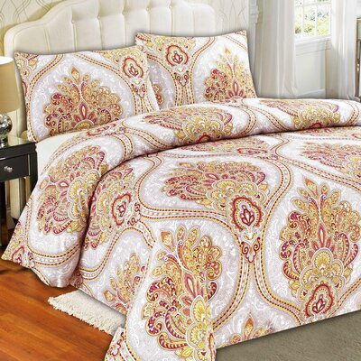 Sunshine Festival Duvet Cover Set Size: King
