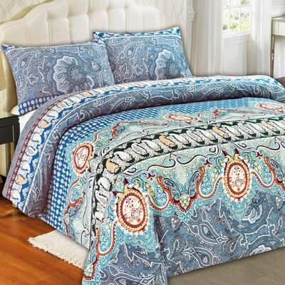 Paisley Monarch Duvet Cover Set Size: Queen
