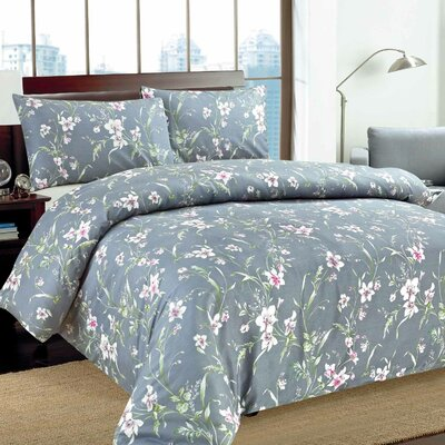 Cherry Blossom Duvet Cover Set Size: Full