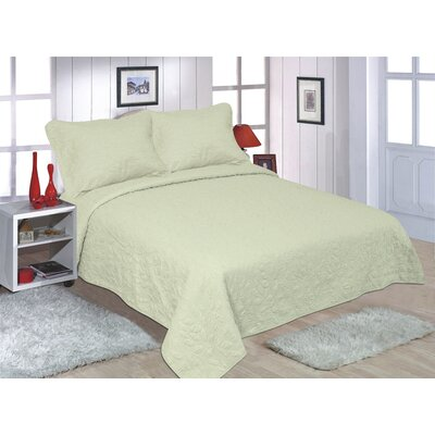 Sweet Pea 3 Piece Bedspread Set Size: Queen