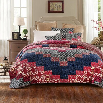 Exotic Aztec Festival Quilt Set Size: Queen