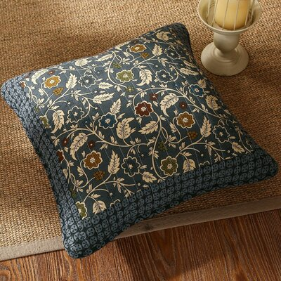 Royal Chambers Patchwork Floral Cotton Pillow Cover