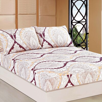 Mandala Fitted Sheet Set Size: Queen