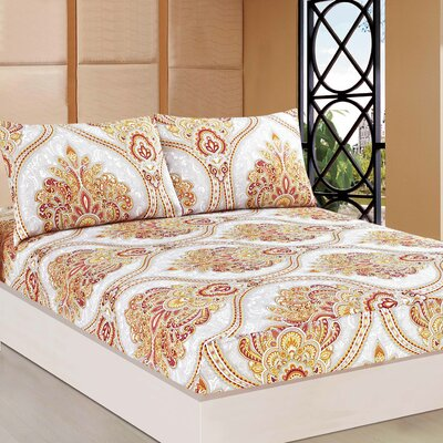 Sunshine Festival Fitted Sheet Set Size: King