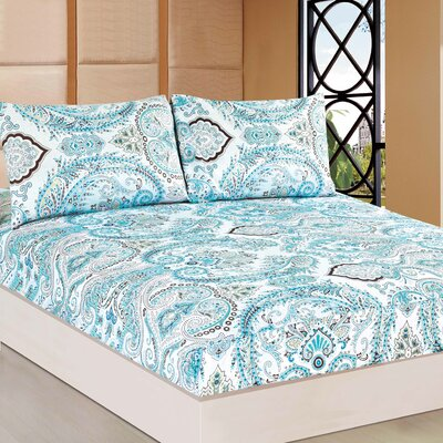 Frozen Forest 100% Cotton Fitted Sheet Set Size: Queen