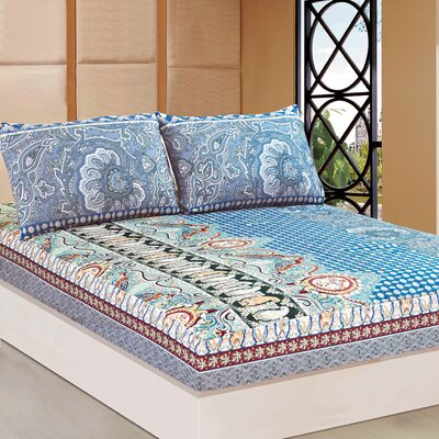 Paisley Monarch 1000 Thread Count Fitted Sheet Set Size: Queen
